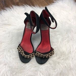 Jeffery Campbell heels with gold chain detail